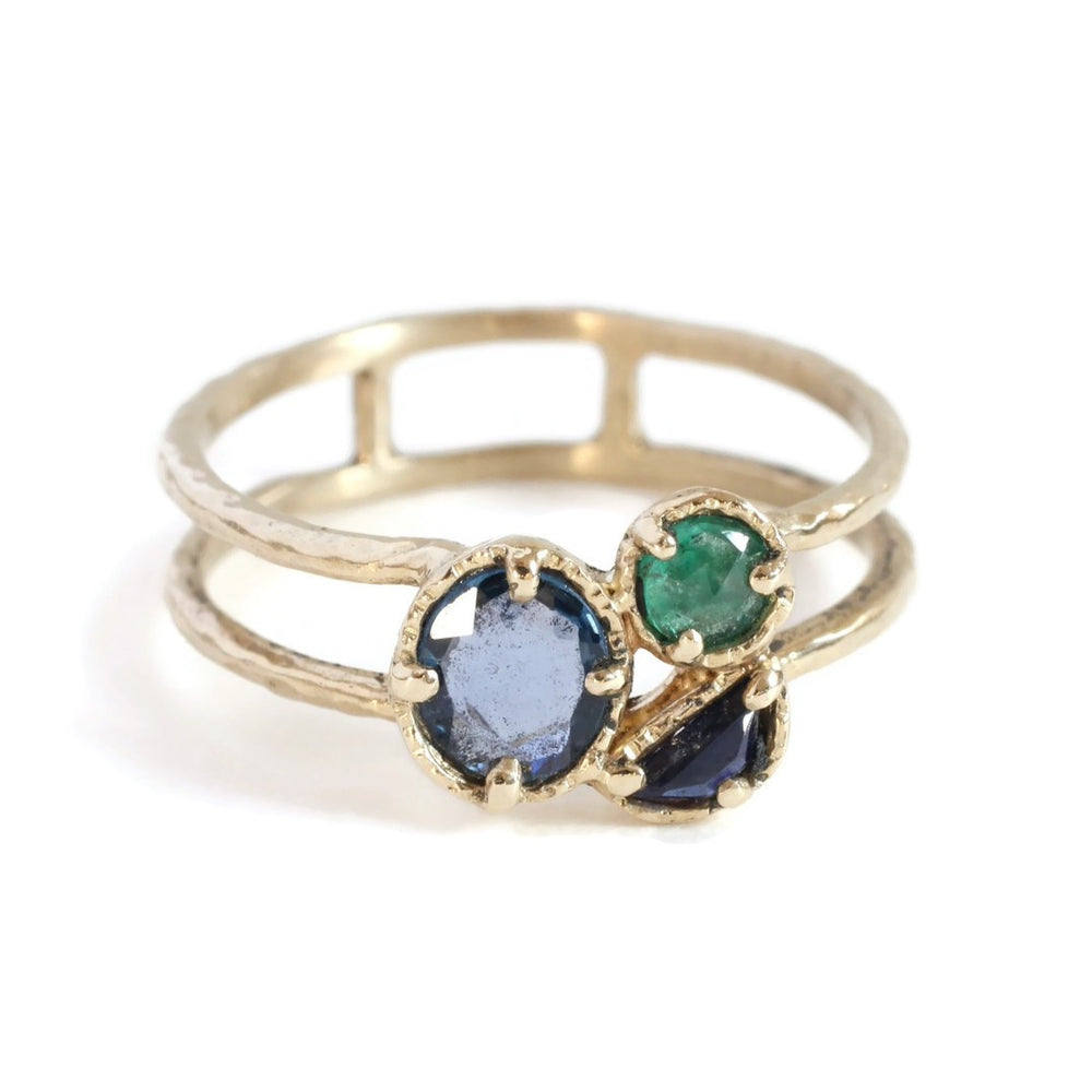 Stacking Stone Ring -Ocean Size 6.5