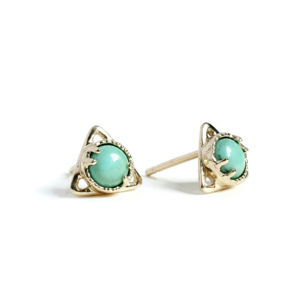 Good Change Triangle Turquoise Studs