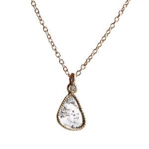 Load image into Gallery viewer, Diamond Slice Necklace -Gray Tear