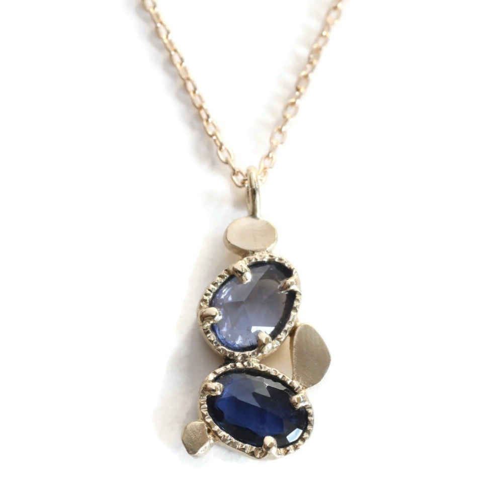 Stacking Stone Necklace -Blue Lagoon