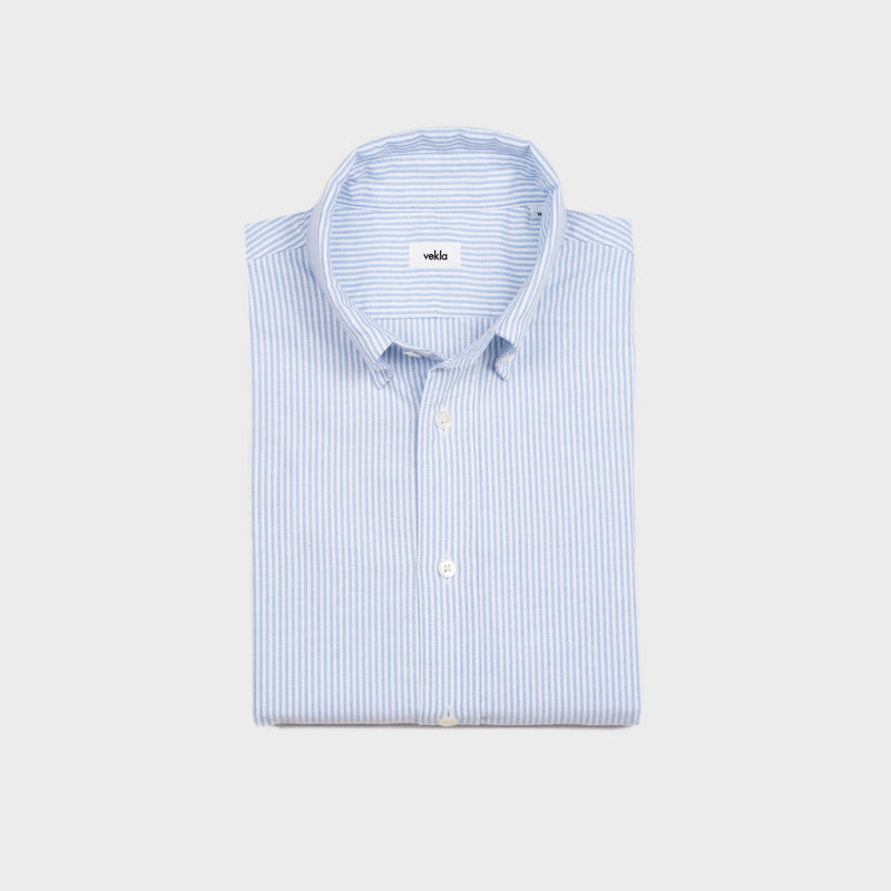 The Oxford Shirt | Light Blue Striped Pre-Order