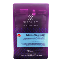 Load image into Gallery viewer, WESLEY TEA - Success Prosperitea THC : CBD [10mg:10mg]