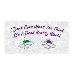 Dead Reality Text Towel