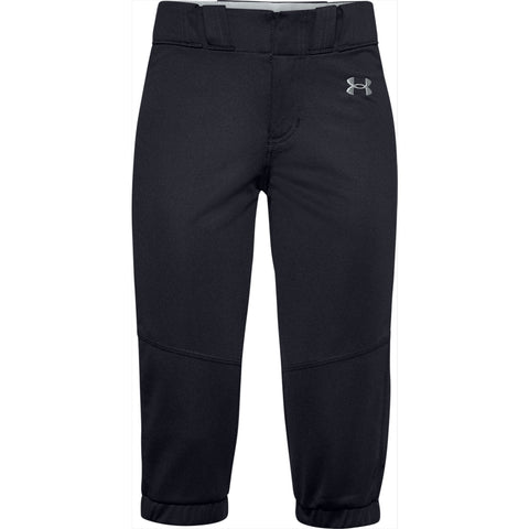 Girls' Under Armour Youth Softball Pant - 001 - BLACK