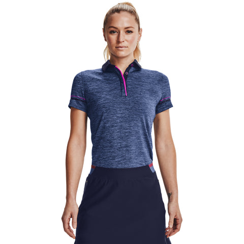 Women's Under Armour Zinger Heathered Polo - 410 - MIDNIGHT