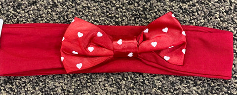 Nebraska Husker Toddler Heart Headband