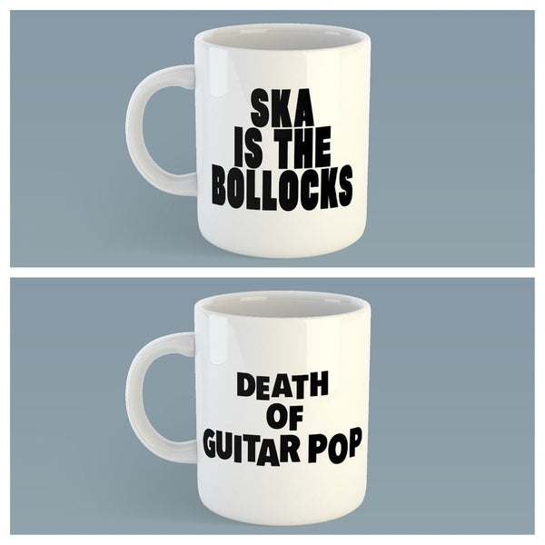 2 Mug Pack 'Ska Is The Bollocks' & 'Death of Guitar Pop'