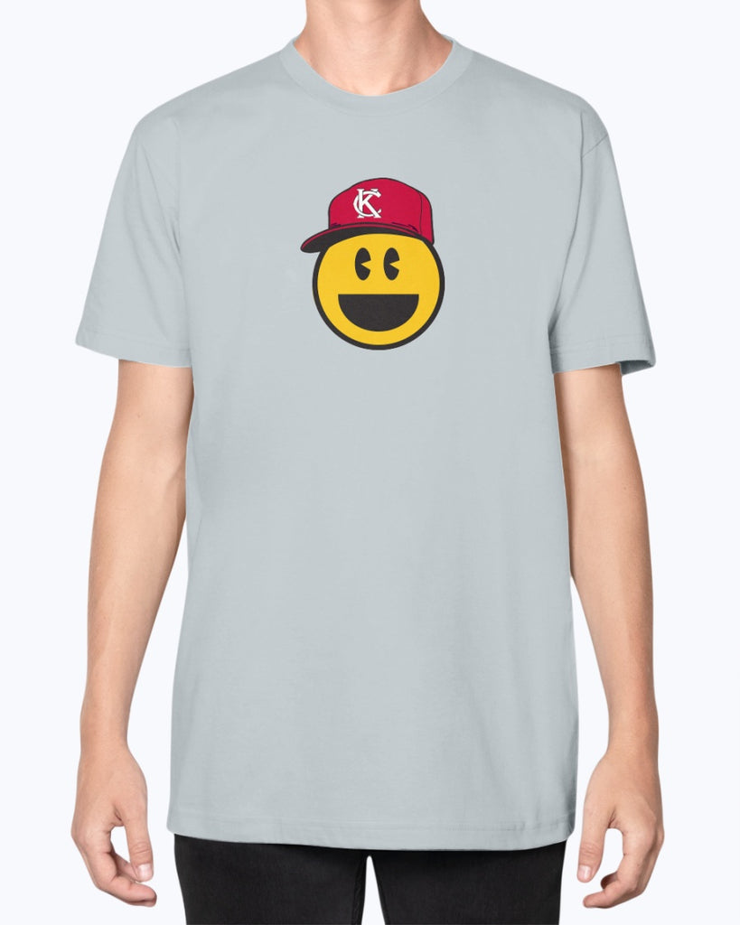 Red Smile Emoji Unisex American Apparel T-Shirt