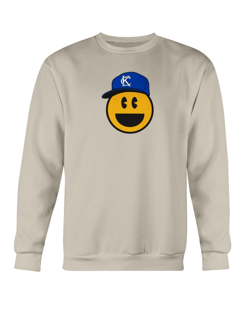 KC Smile Blue Sweatshirt - Crew