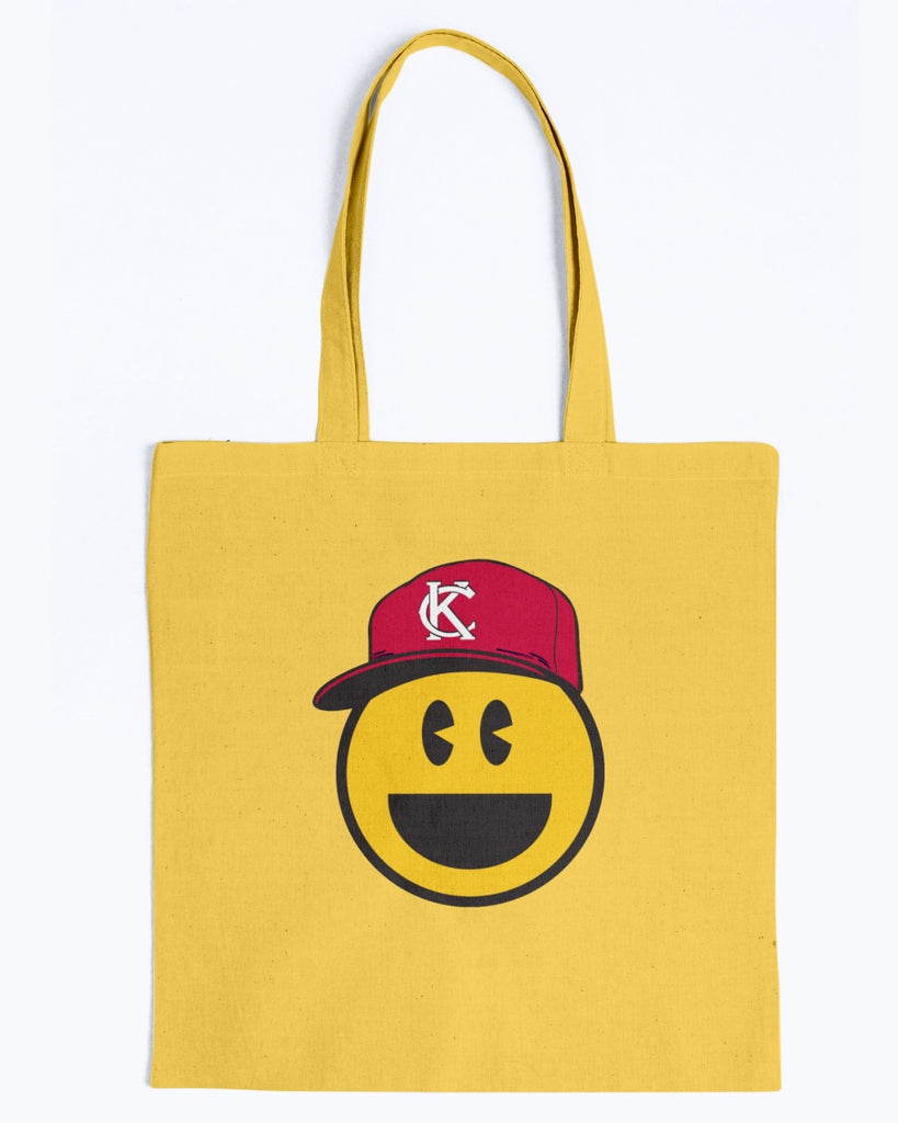 KC Smile Red Canvas Promo Tote