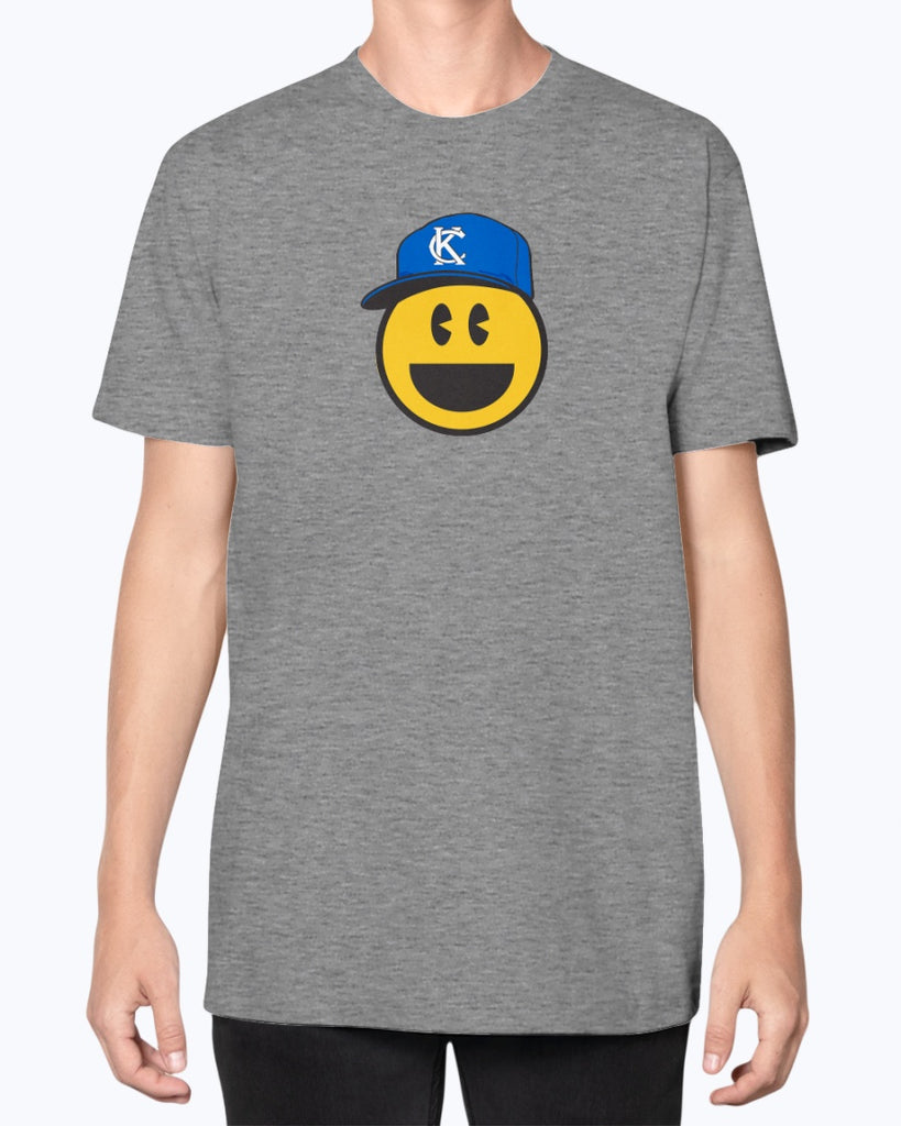 Blue Smile Emoji Unisex American Apparel T-Shirt