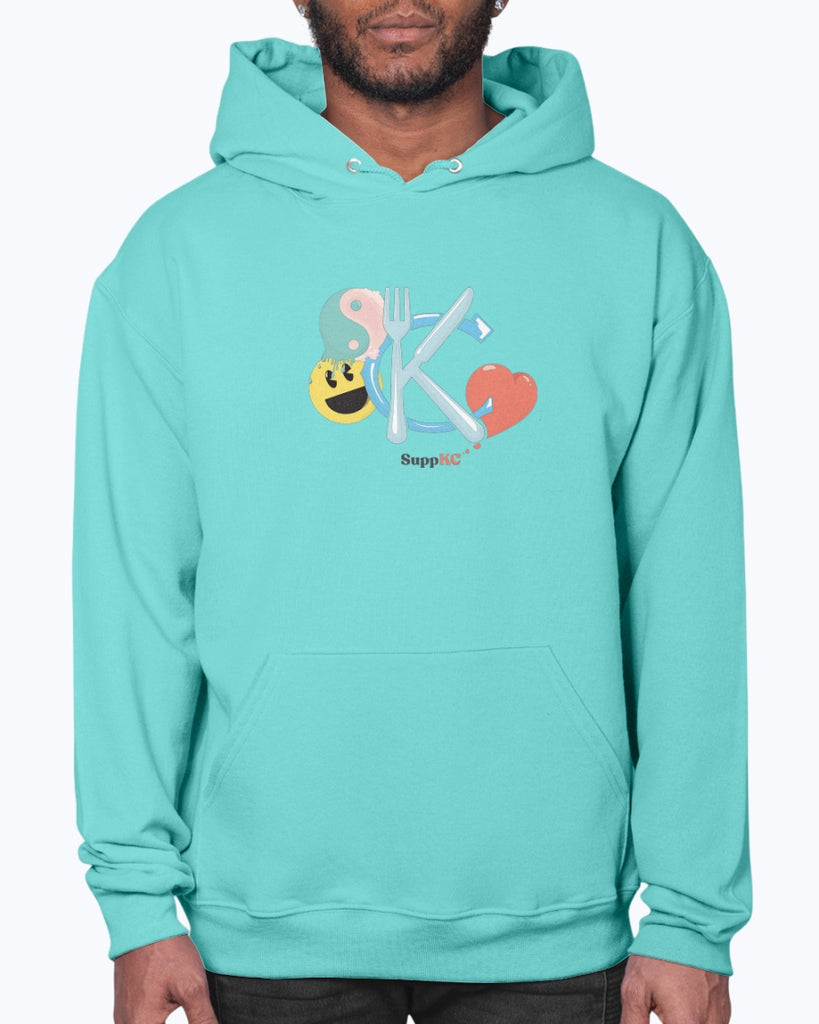 The Bright + Shiny Design 50/50 Hoodie