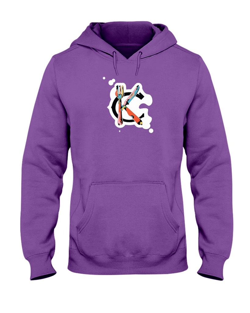 Support KC Industry Painted Design 50/50 Unisex Hoodie