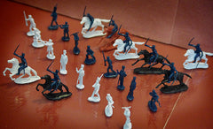MARX Alamo Mexicans with Horses - Reissued in 30mm - 32 Piece Plastic Figure Set