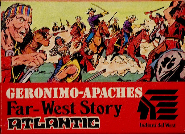 ATLANTIC Set 1103 GERONIMO-APACHES 1/72 FAR WEST STORY SET 70s MIB