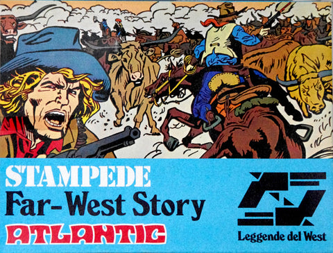 ATLANTIC 1/32 STAMPEDE FAR WEST ADVENTURE PLAYSET - MINT Plastic Figures - Box Good to Fair