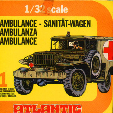 ATLANTIC WWII Ambulance with Soldiers in 1/32 Scale MINT in the BOX SET #2161