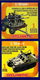 ATLANTIC WWII German A.A. Flack Gun & Artillery Tractor in 1/32 Scale MINT in the BOX SETS