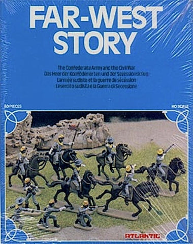 MINT ATLANTIC CIVIL WAR CONFEDERATE CAVALRY with over 64 Pieces in 1/72 Scale