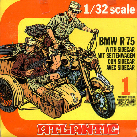 ATLANTIC WWII German BMW Motorcycle with Riders 1/32 Scale MINT in the BOX