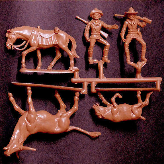 ATLANTIC 1/32 STAMPEDE FAR WEST ADVENTURE PLAYSET - MINT Plastic Figures - Box VG to Good