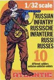 ATLANTIC WWII RUSSIAN INFANTRY in 10 Poses in 1/32 Scale - Mint in the Box