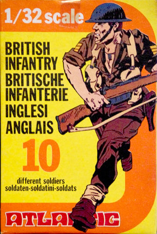 ATLANTIC WWII BRITISH INFANTRY in 11 Poses in 1/32 Scale - Mint in the Box