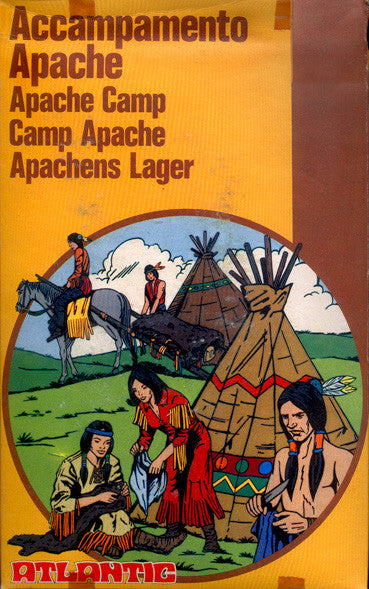 ATLANTIC Set 4004 Apache Camp - 1/72 Western Indians Boxed Set 70s MIB