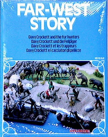 MINT ATLANTIC  DAVY CROCKETT & THE FUR TRADERS with over 83 Pieces in 1/72 Scale