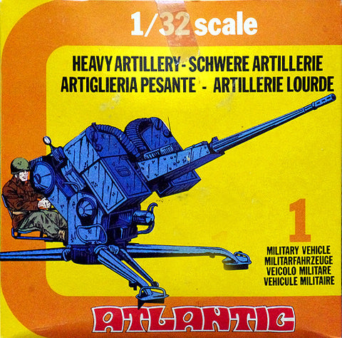 ATLANTIC WWII 2 Heavy Allied Artillery Guns with Crews in 1/32 Scale MINT in the BOX SET #2162