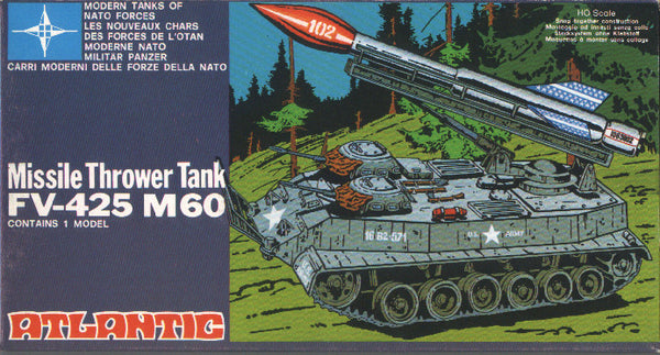 ATLANTIC NATO FORCES MISSILE TANK FV-425 M60 - Modern 1970s Era Armored Tank Vehicle MIB in 1/72 - HO Scale