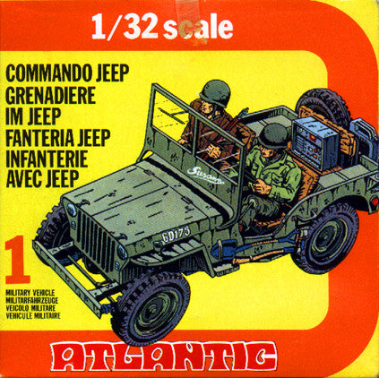 ATLANTIC WWII Commando Jeep with Soldiers in 1/32 Scale MINT in the BOX SET #2154