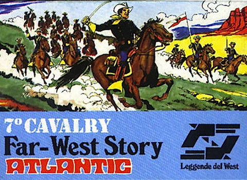 ATLANTIC 7th CAVALRY MEDIUM SIZE 1/72 FAR WEST STORY SET 70s MIB