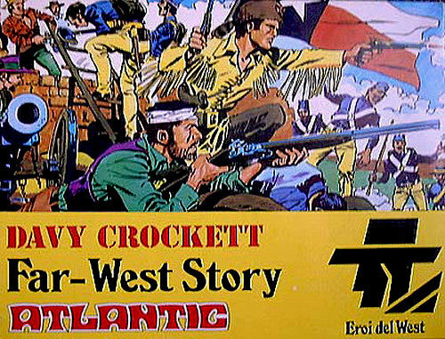 ATLANTIC 1/32 DAVY CROCKETT ADVENTURE PLAYSET - MINT Plastic Toy Soldier Playset
