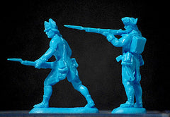 ATS REVOLUTIONARY WAR AMERICANS In Light Blue 20 Plastic Toy Soldiers