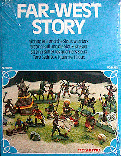 MINT ATLANTIC SITTING BULL & THE SIOUX WARRIORS with 76 Pieces in 1/72 Scale