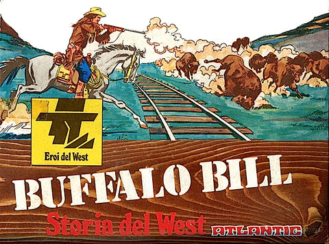 ATLANTIC 1/32 BUFFALO BILL FAR WEST ADVENTURE PLAYSET - MINT Plastic Figures - Box Fair