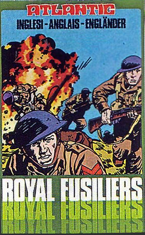 ATLANTIC Set 4053 Royal Fusiliers - 1/72 WWII British Army in Tan Boxed Set 70s MIB