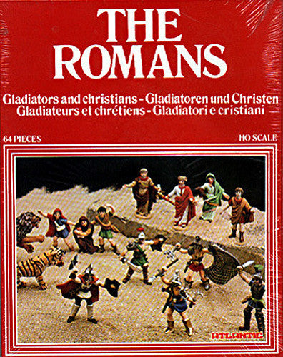 ATLANTIC HO SCALE THE ROMANS GLADIATORS AND CHRISTIANS 70s MINT 1/72 HO Playset #1517
