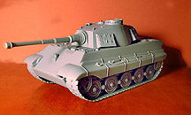 BMC TOYS - German King Tiger Tank in Gray Color Plastic - 1/32 Scale