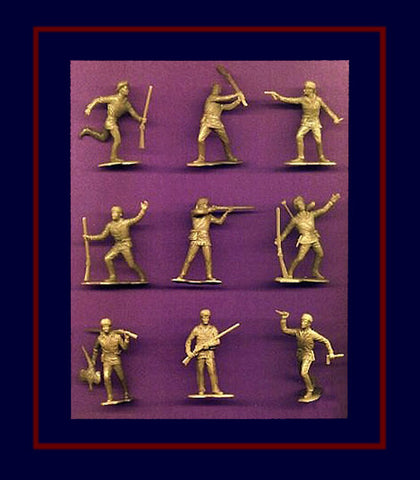 BOONSBORO PIONEERS (BUCKSKIN TAN)  9 dramatic action poses! 20 figures PER SET
