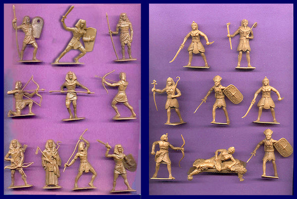 JECSAN & CHERILEA  Egyptian Warriors 20 Plastic Toy Soldiers in 16 Different Poses