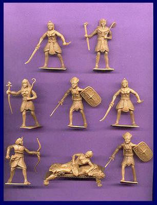 CHERILEA  Egyptian Warriors with Queen Plastic Figure Set in 6 Different Poses