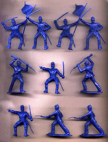 Reamsa 60mm UNION CIVIL WAR SOLDIERS IN BLUE - 10 Soldiers in 5 Great Poses!