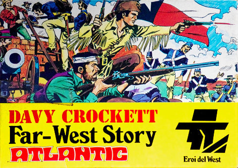 ATLANTIC Set 1005 DAVY CROKETT 1/72 FAR WEST STORY SET 70s MIB