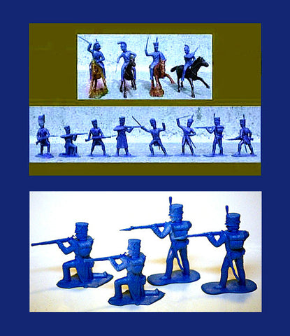 REAMSA French Napoleonic Soldiers & Horses 20 pc Plastic Toy Soldiers Set!