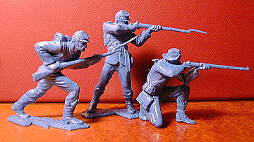 IDEAL ( Andy Guard ) Reissued Blue Civil War Plastic Toy Soldiers - 60mm - 9 poses in an 11 piece set