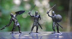 IDEAL Medieval Knights - Black Color Plastic 60mm KNIGHTS PLAYSET 10 different pieces
