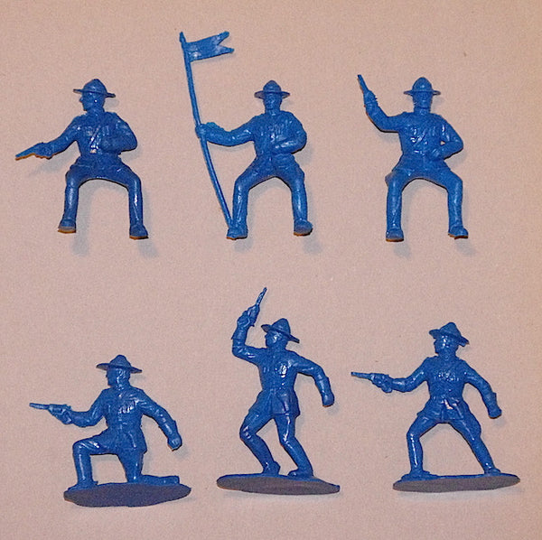 Reamsa Canadian Mounted Police, 10 Toy Soldiers in Blue Color Plastic