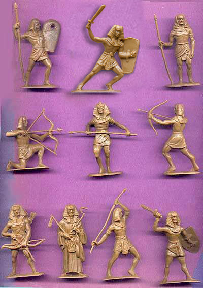 JECSAN Egyptian Warriors10 poses, 20 figures with Archers